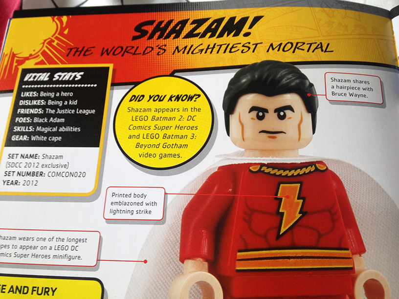 Shazam in the Character Encyclopedia